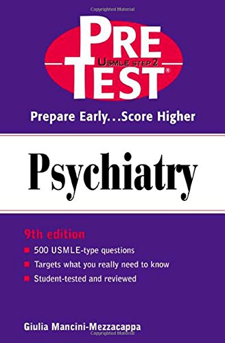9780071361552: Psychiatry: PreTest Self-Assessment and Review