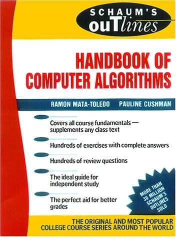 9780071361996: Schaum's Outline Handbook of Computer Algorithms (Schaum's Outlines)