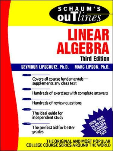 9780071362009: Schaum's Outline of Linear Algebra (Schaum's Outline Series)