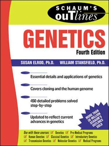 9780071362061: Schaum's Outline of Genetics