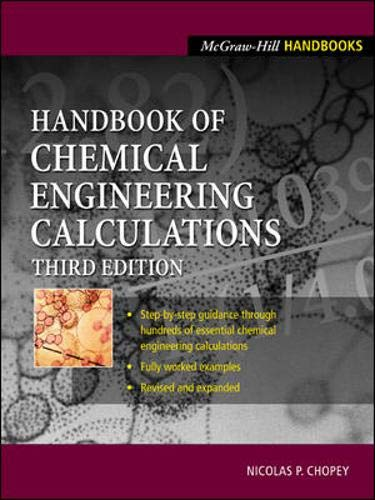 9780071362627: Handbook of Chemical Engineering Calculations