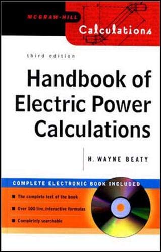 9780071362986: Handbook of Electric Power Calculations