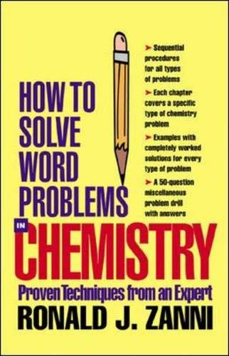 9780071363020: How to Solve Word Problems in Chemistry (How to Solve Word Problems (McGraw-Hill))