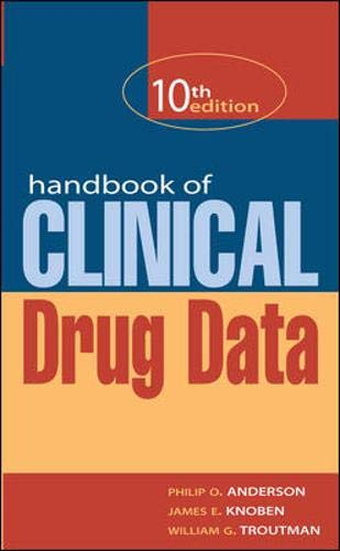 9780071363624: Handbook of Clinical Drug Data