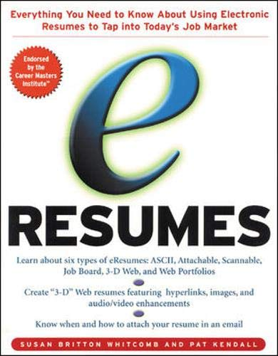 9780071363990: e-Resumes: Everything You Need to Know About Using Electronic Resumes to Tap into Today's Hot Job Market
