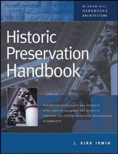 9780071364119: Historic Preservation Handbook (Handbook)