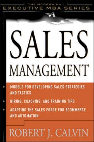 9780071364348: Sales Management (McGraw-Hill Executive Education)