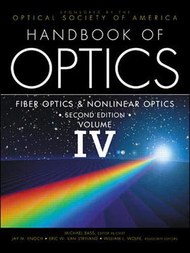 9780071364560: Handbook of Optics, Volume IV