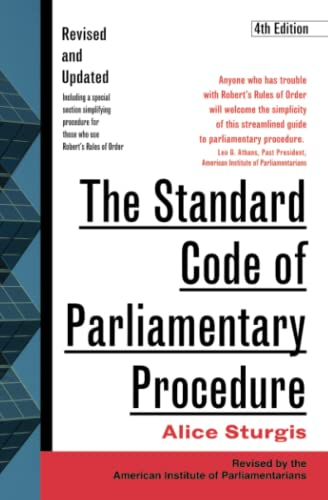 9780071365130: The Standard Code of Parliamentary Procedure, 4th Edition