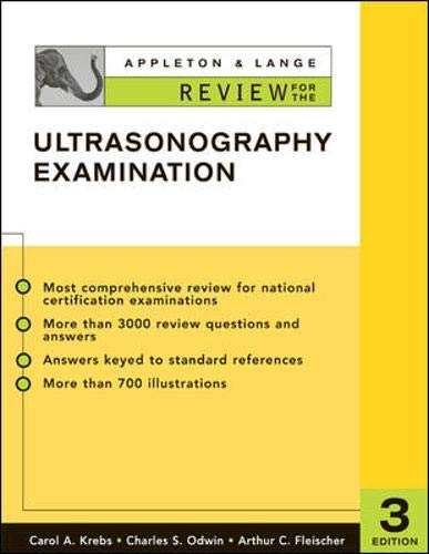 9780071365161: Appleton & Lange Review for the Ultrasonography Examination (Appleton & Lange Review Book Series)