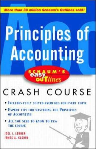 9780071369725: Principles of Accounting (Schaum's Easy Outlines Crash Course)