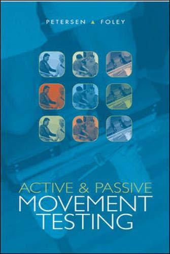 Active and Passive Movement Testing: Petersen, Cheryl M;
