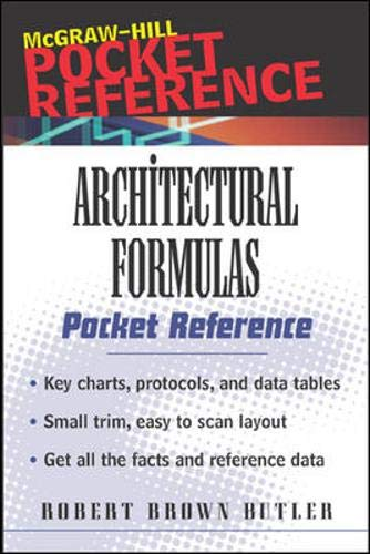 9780071370363: Architectural Formulas Pocket Reference (McGraw-Hill Pocket Architecture)