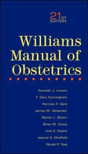 9780071372152: Williams Manual of Obstetrics
