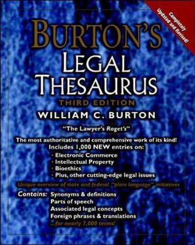 9780071373098: Burton's Legal Thesaurus