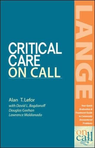 9780071373456: Critical Care on Call