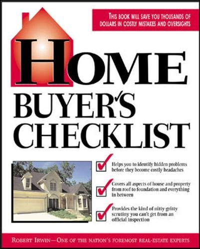 9780071373807: Home Buyer's Checklist: Everything You Need to Know--but Forget to Ask--Before You Buy a Home