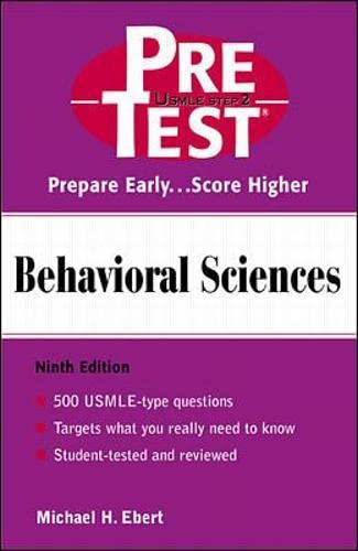 9780071374705: Behavioral Sciences: PreTest Self-Assessment and Review