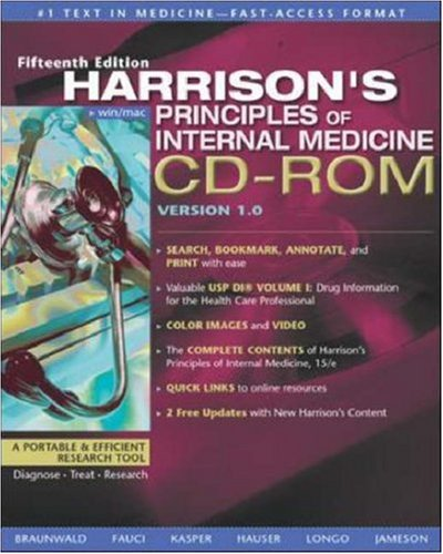 9780071374798: Harrison's Principles of Internal Medicine, CD-ROM