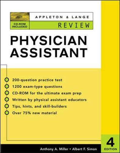 9780071375443: Appleton & Lange Review for the Physician Assistant (Appleton & Lange Review Book Series)