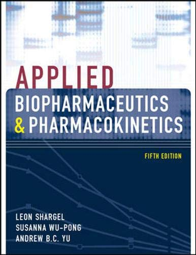 Applied Biopharmaceutics & Pharmacokinetics, Fifth Edition (Shargel,: Wu-Pong, Susanna, Yu,
