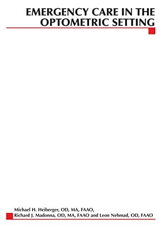 9780071375535: Emergency Care in the Optometric Setting