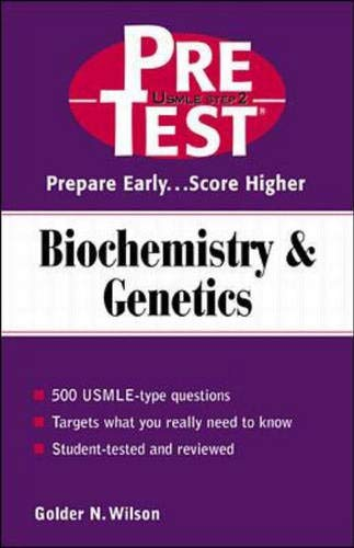 9780071375788: Biochemistry & Genetics: PreTest Self-Assessment & Review