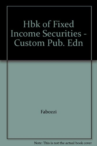 9780071376822: Hbk of Fixed Income Securities - Custom Pub. Edn
