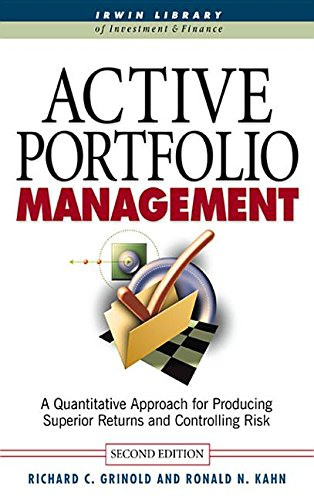 9780071376952: Active Portfolio Management: A Quantitative Approach for Producing Superior Returns and Selecting Superior Returns and Controlling Risk