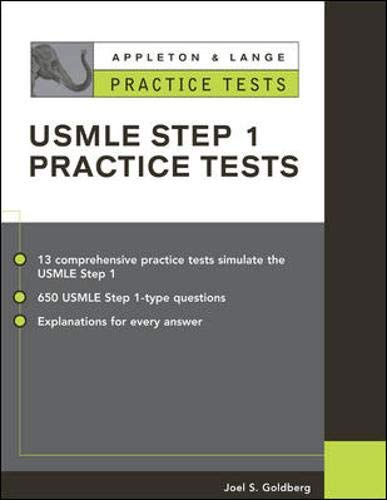 9780071377393: Practice Tests for the Usmle Step 1 (Appleton & Lange Review Book Series)