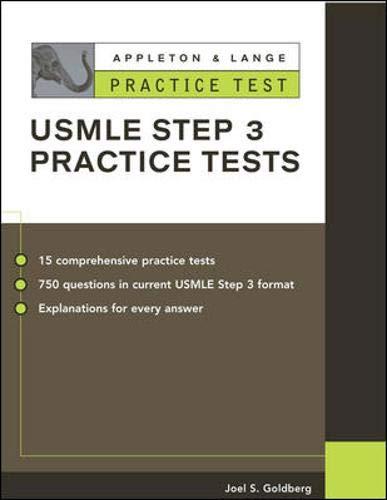 9780071377416: Appleton & Lange Practice Tests for the USMLE Step 3 (Appleton & Lange Review Book Series)