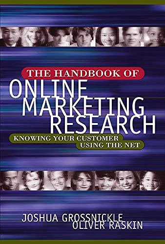 9780071378451: Handbook of Online Marketing Research