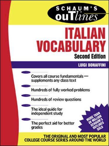 9780071378840: Schaum's Outline of Italian Vocabulary
