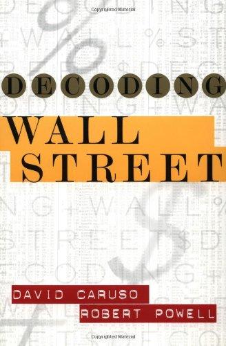 9780071379533: Decoding Wall Street