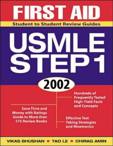 9780071381529: First Aid for the USMLE Step 1 2002 (Student to