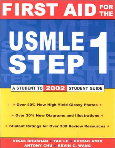 9780071381529: First Aid for the USMLE Step 1: 2002