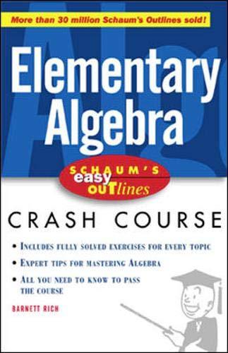 9780071383257: Schaum's Easy Outlines: Elementary Algebra