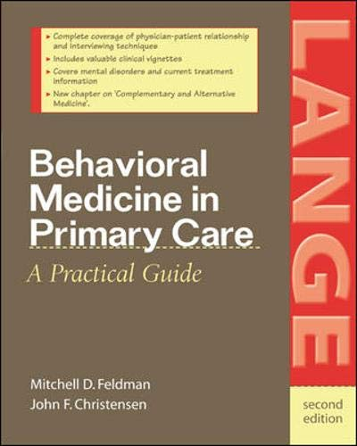 9780071383363: Behavioral Medicine in Primary Care