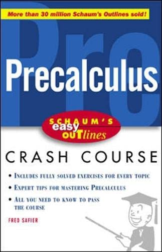 9780071383400: Schaum's Easy Outline of Precalculus (Schaum's Easy Outlines)