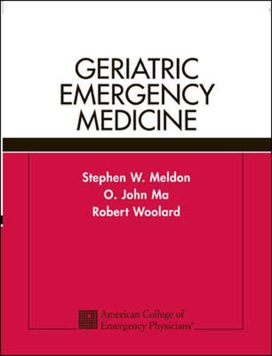 9780071383851: Geriatric Emergency Medicine
