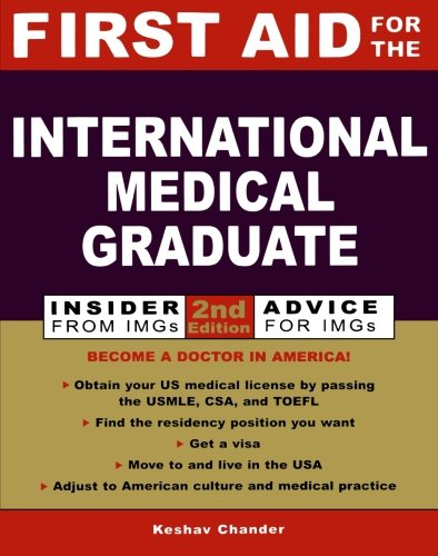 9780071385329: First Aid for the International Medical Graduate