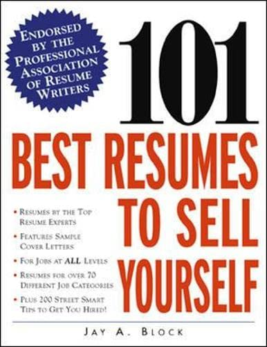 9780071385527: 101 Best Resumes to Sell Yourself