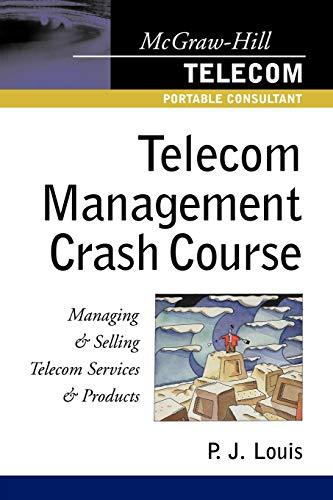 9780071386203: Telecom Management Crash Course: A Telecom Company Survival Guide
