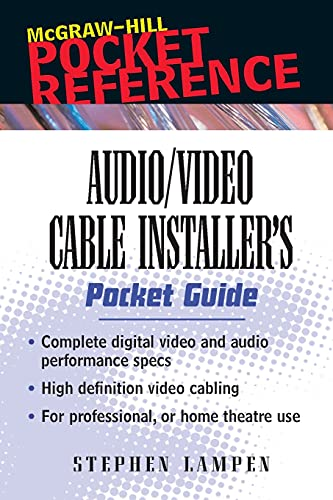 9780071386210: Audio/Video Cable Installer's Pocket Guide (McGraw-Hill Pocket Reference)