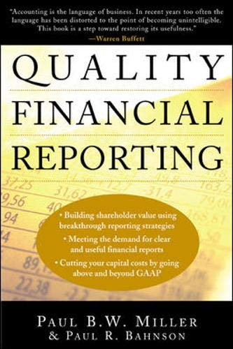 9780071387422: Quality Financial Reporting