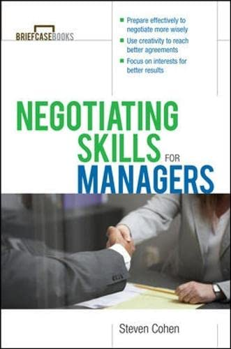 9780071387576: Negotiating Skills for Managers