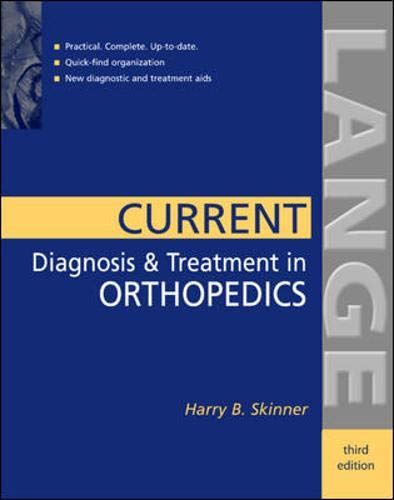 9780071387583: Current Diagnosis & Treatment in Orthopedics