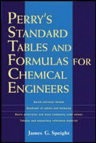 9780071387774: Perry's Standard Tables and Formulae For Chemical Engineers (Professional Engineering)
