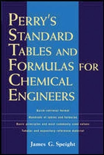 9780071387774: Perry's Standard Tables and Formulae For Chemical Engineers