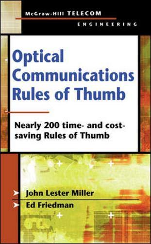 9780071387781: Optical Communications Rules of Thumb (Telecom Engineering)